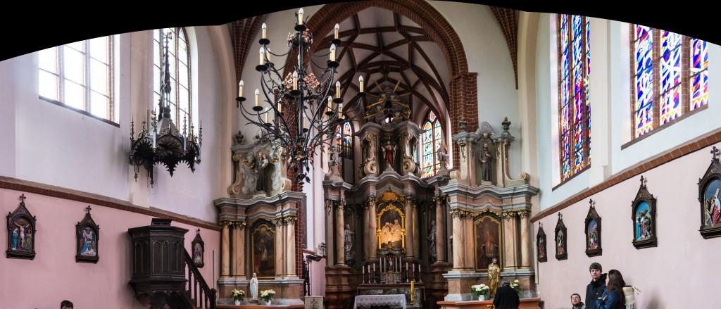 Панорама костелла Св. Анны